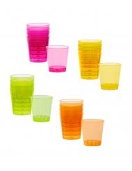 20 vasos chupito de plástico de colores