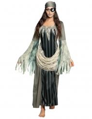 Disfraz vestido largo pirata fantasma mujer