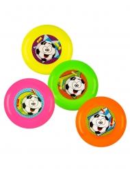 Accesorios piñata 4 frisbees multicolores 9 cm