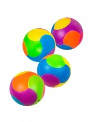 Accesorios piñata 4 bolas puzzle multicolor 3 cm