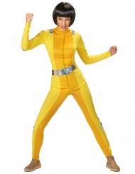 Disfraz de espía amarillo mujer