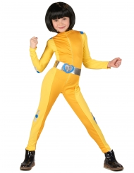 Disfraz de espía amarillo niña