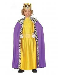 Disfraz de Rey Mago amarillo infantil