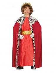 Disfraz de Rey Mago rojo infantil