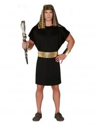 Disfraz faraón negro y dorado hombre