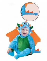 Disfraz dragón azul bebé