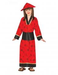 Disfraz kimono rojo para niña
