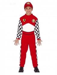 Disfraz piloto de carreras niño