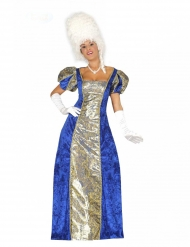 Disfraz marquesa azul mujer