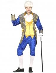Disfraz de marqués azul hombre