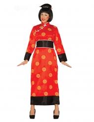 Disfraz de china rojo mujer