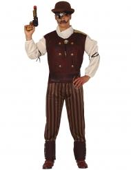 Disfraz steampunk elegante hombre