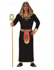 Disfraz de faraón negro y dorado hombre