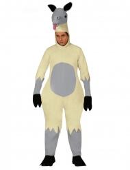 Disfraz mono llama adulto