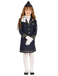 Disfraz azafata azul marino niña