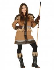 Disfraz esquimal marrón mujer
