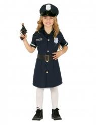 Disfraz vestido policía niña
