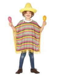 Disfraz poncho mejicano niño