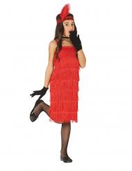 Disfraz de Charlestón rojo niña