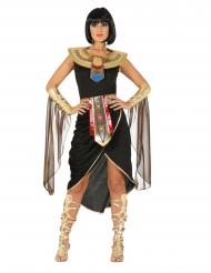 Disfraz de reina egipcia negro mujer