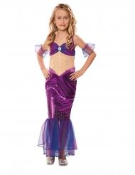 Disfraz sirena violeta niña