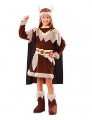 Disfraz vikingo marrón niña