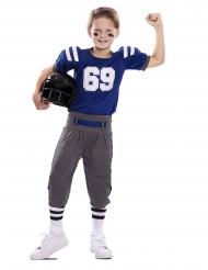 Disfraz jugador de fútbol americano azul niño