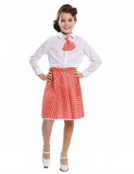 Falda con pañuelo pin up rojo niña