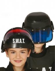 Casco con visera SWAT niño