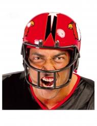 Casco jugador fútbol americano rojo adulto