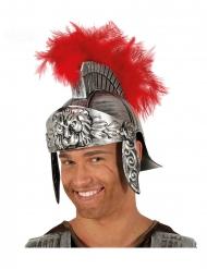 Casco centurión romano plumas rojas adulto