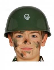 Casco militar kaki niño