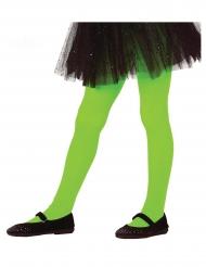 Pantys verdes opacos niña