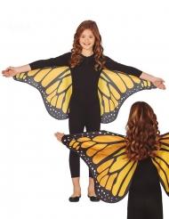 Alas de mariposa naranja 110 x 50 cm niño