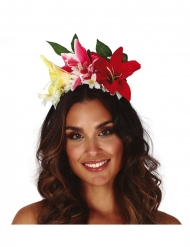 Corona de flores aloha