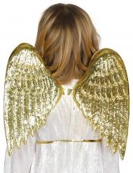Alas de ángel doradas niño