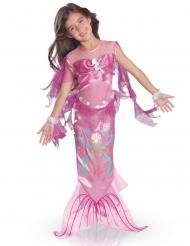 Disfraz sirena de mar rosa niña
