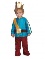 Disfraz con corona príncipe azul bebé