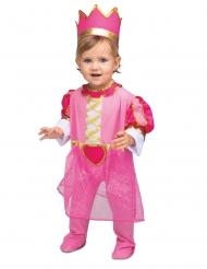 Disfraz con corona princesa rosa bebé
