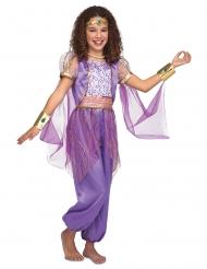 Disfraz de princesa oriental lila niña