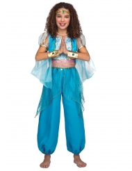 Disfraz princesa oriental turquesa niña
