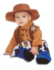 Disfraz con sombrero cowboy bebé