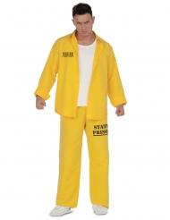 Disfraz prisionero amarillo hombre
