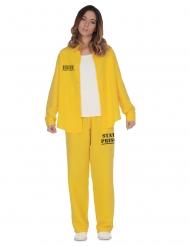 Disfraz prisionera amarillo mujer