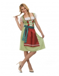 Disfraz vestido oktoberfest verde mujer