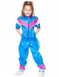 Disfraz chandal azul años 80 niña