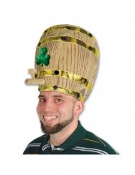 Sombrero barril de cerveza con trébol para adulto