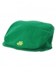 Gorra verde con trébol adulto