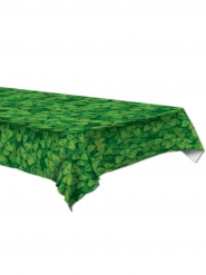 Mantel de plástico verde con tréboles 137 x 274 cm