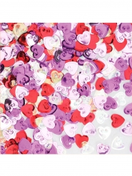 Confetis de mesa corazones de colores 14 g
